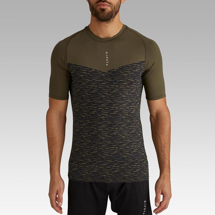 Keepdry 100 Adult Short-Sleeved Football Base Layer - Khaki
