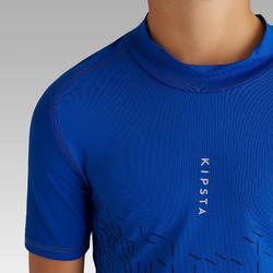 Sous maillot de football manches courtes enfant Keepdry 100 bleu indigo