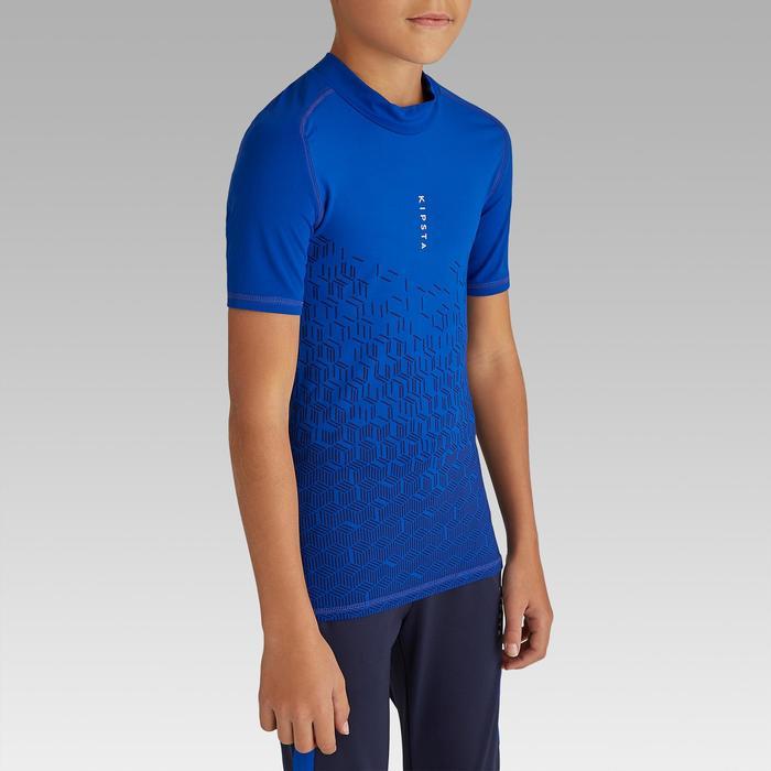 Ondershirt korte mouwen kinderen Keepdry 100 indigoblauw