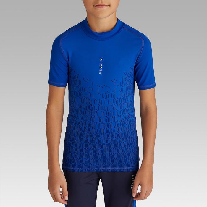 Funktionsshirt Keepdry 100 atmungsaktiv Kinder blau