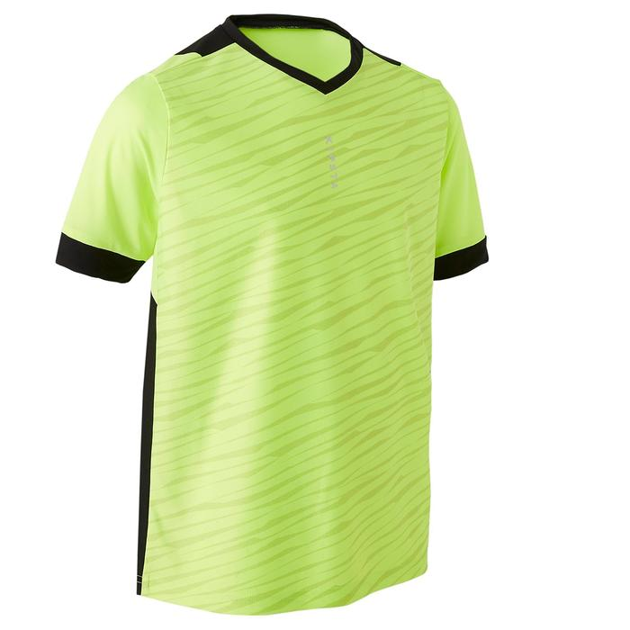 Voetbalshirt kind F500 limited edition fluogeel/zwart