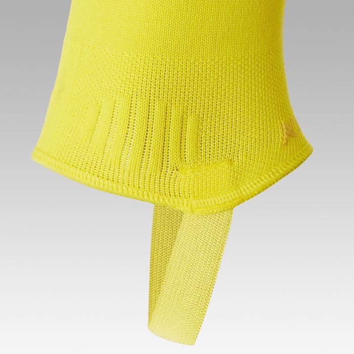 Chaussettes de football sans pied F500 jaune