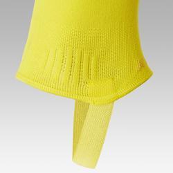 Voetloze voetbalkousen F500 geel