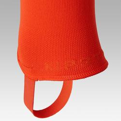 Chaussettes de football sans pied F500 orange