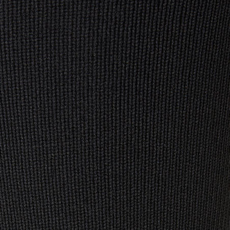 Medias de fútbol sin pies F500 negro