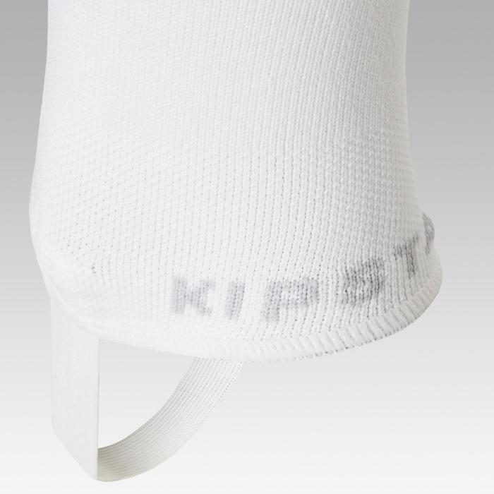 Chaussettes de football sans pied F500 blanc