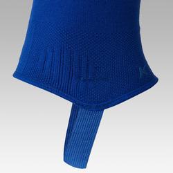 Chaussettes de football sans pied F500 bleu