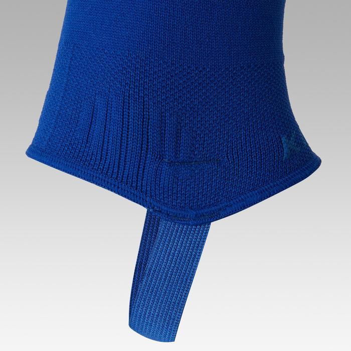 Voetloze voetbalkousen F500 blauw