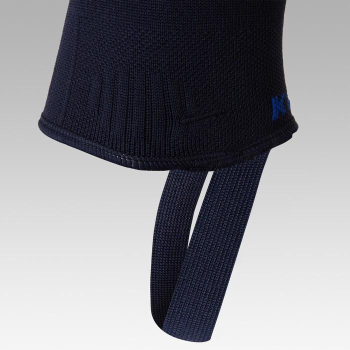 Chaussettes de football sans pied F500 bleu marine