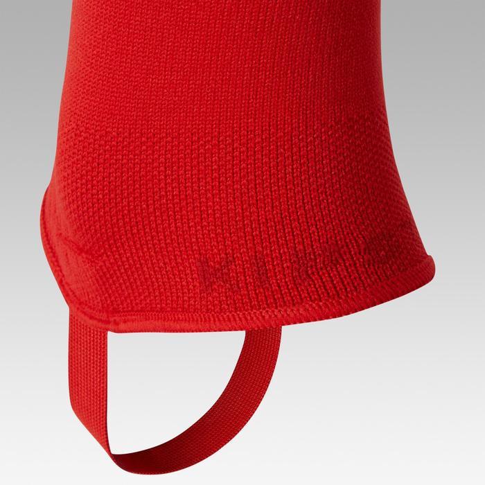 Chaussettes de football sans pied F500 rouge