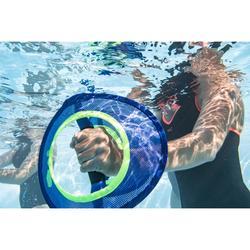 Halter voor spierversterking bij aquagym/aquafitness Pullpush blauw/geel