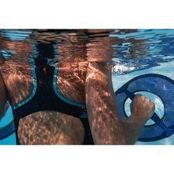 Maillot de bain une pièce d'Aquafitness femme Lena Juni bleu