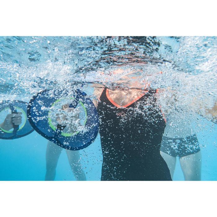 Badpak voor aquafitness shortymodel combishort Lou zwart