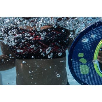 Sujetador-top de bañador de aquafitness mujer Meg Ron negro rojo