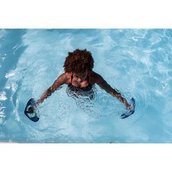 Sportbikini-Oberteil Aquafitness Meg Ron Damen schwarz/rot