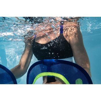 Sujetador-top de bañador de aquafitness mujer Anny negro azul