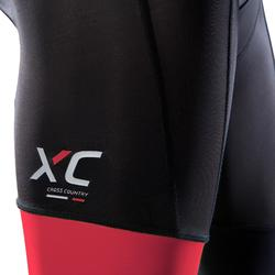 Radhose MTB XC 100 Herren schwarz/rot