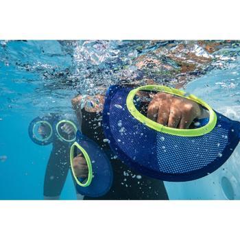 Hantel Muskelkräftigung Pullpush Mesh Aquagym Aquafitness blau/gelb