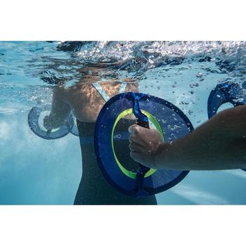 Maillot de bain une pièce combishort long d'Aquafitness femme Anna noir bleu