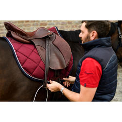Mantilla de equitación caballo 540 burdeos