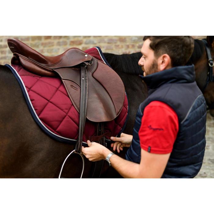 Tapis de selle équitation cheval 540 bordeaux