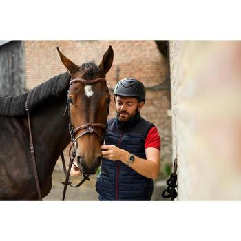 Chaleco Equitación Fouganza 500 Hombre Azul Marino y Burdeos Acolchado De Guata