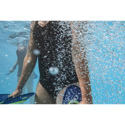 Badpak voor aquafitness dames Lou zwart