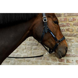 Leren halster ruitersport paard en pony Performer zwart/blauw