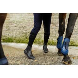 Leren jodhpurs voor paardrijden volwassenen 560 zwart
