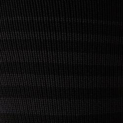 Fußballstutzen F500 Kinder gestreift schwarz