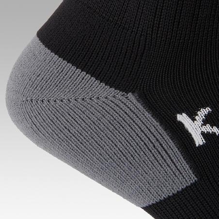 Chaussettes de football rayée F500 noire - Enfants