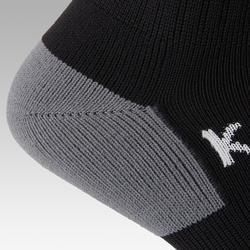 Chaussette de football rayée enfant F500 noire