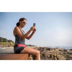 Hardloop zonnebril Runstyle categorie 3 wit/roze