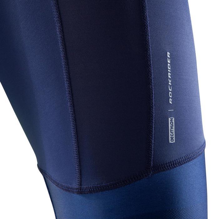 Radhose MTB XC 100 Herren blau/neongelb