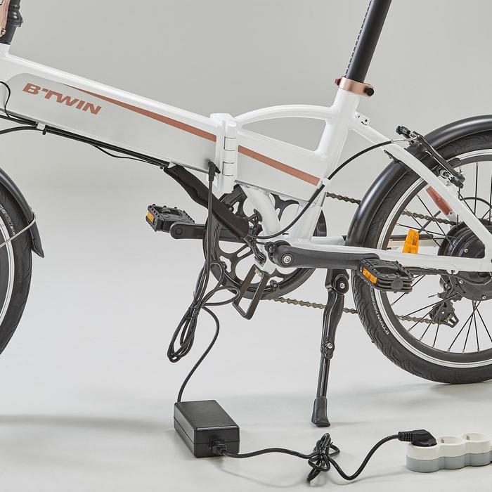 Chargeur pour batterie de vélo pliant électrique Tilt 500E et Hoptown 500E.