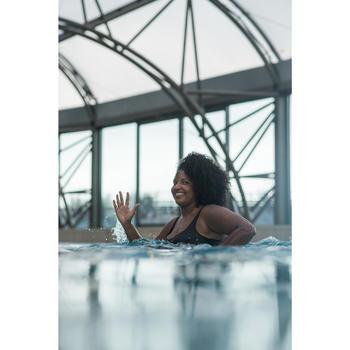 Maillot de bain femme une pièce gainant d'aquagym Mary Noir