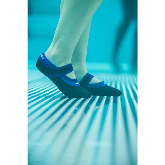 Waterschoentjes voor aquagym en aquafitness Aquaballerine zwart/blauw