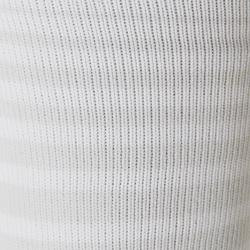 Chaussette de football rayée enfant F500 blanche