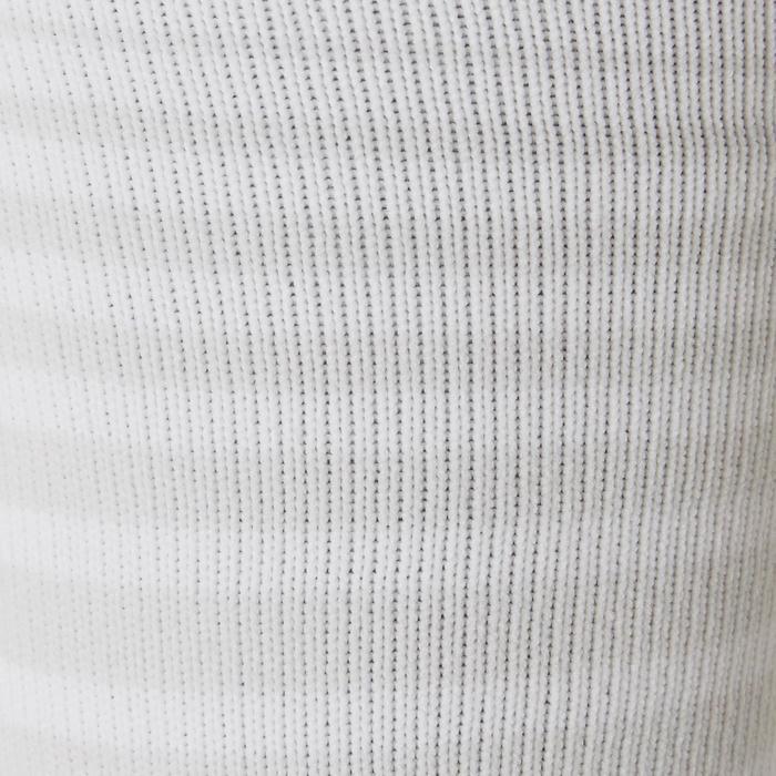 Medias de fútbol rayadas júnior F500 blanco
