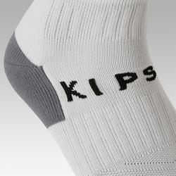 Kids' Football Socks F500 - White with Stripes