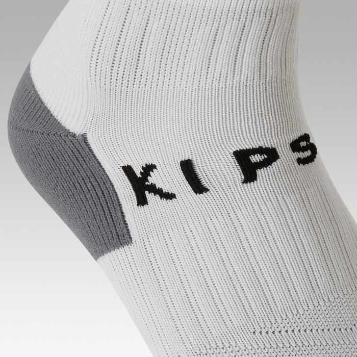 F500 Kids' Striped Football Socks - White