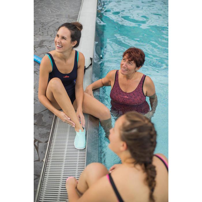 Escarpines para aquagym, aquabike y aquafitness Aquadots verde blanco