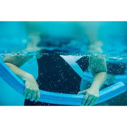 Maillot de bain une pièce femme gainant d'aquagym Karli Noir blanc