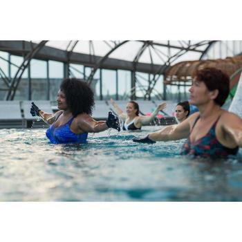 Corrigerend aquagym badpak voor dames Karli Snake blauw