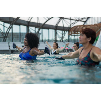 Corrigerend badpak voor aquagym Karli Snake blauw