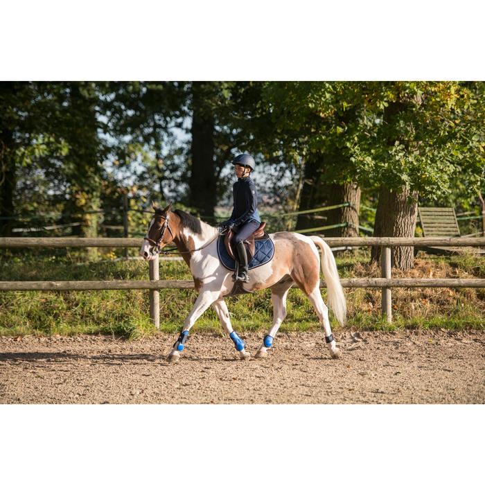 Tapis de selle équitation cheval 540 bleu