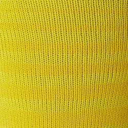 Medias de fútbol a rayas júnior F500 amarillo
