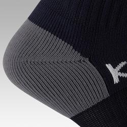 Chaussettes de football rayée enfant F500 marine