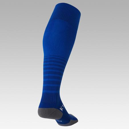 Medias de fútbol rayadas júnior F500 azul