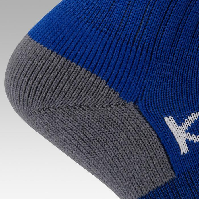 Kids' Football Socks F500 - Blue with Stripes